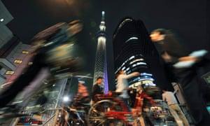 Night scene in Tokyo, Japan.