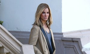 Sandra Bullock on the set of Our Brand is Crisis.