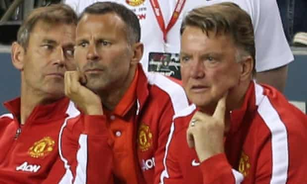 Louis van Gaal watches on from the bench as Manchester United beat the San Jose Earthquakes.