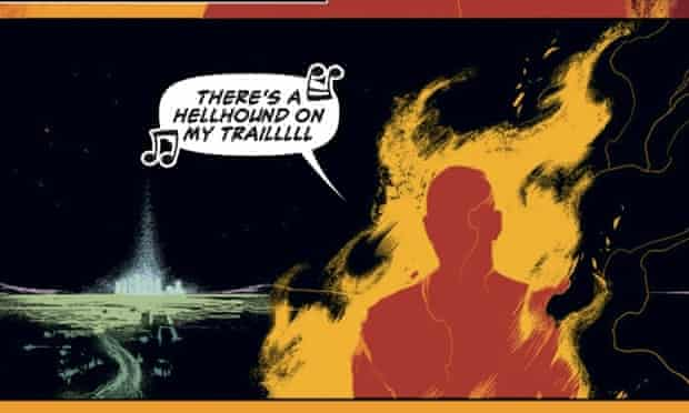 Burning issues … a panel from Ales Kot's new comic series Wolf.
