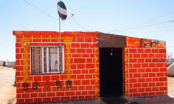 Caravan at Za'atari refugee camp