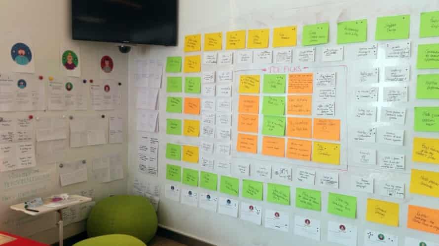 Wall of ideas