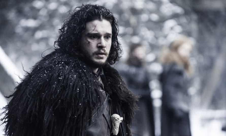 Hair today - you know nothing. Kit Harington in Game of Thrones.
