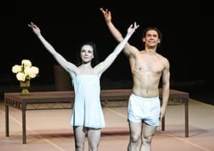 Natalia Osipova and Ivan Vasiliev take a bow at Ardani 25.