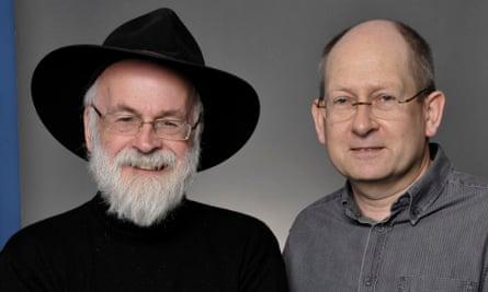 Terry Pratchett and Stephen Baxter in 2012.