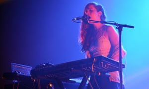 Tech mate: Jessy Lanza performs live.