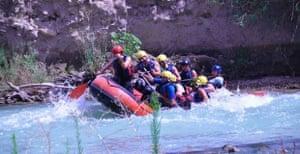 Rafting on the river Genil, Spain