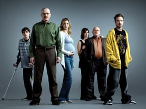 The one who no-one knocked for… RJ Mitte, Bryan Cranston, Anna Gunn, Betsy Brandt, Dean Norris and Aaron Paul.