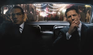 Brains and brawn … Tom Hardy as Ronnie and Reggie in Legend.