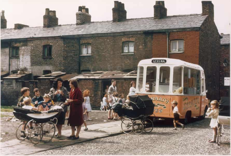 The ice-cream van visits Hulme, July 1965.