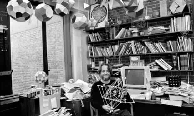 John Conway in his office at Princeton in 1993.