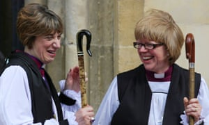 Treweek with Dame Sarah Mullally, now the bishop of Crediton, after the service