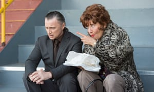 Robert Carlyle and Emma Thompson in The Legend of Barney Thomson