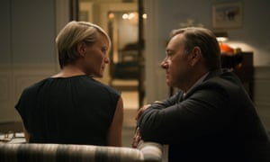 Robin Wright and Kevin Spacey on House of Cards.