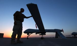 A RQ-1 Predator drone. RAF personnel are working with the US Air Force 432nd unit, which flies drones.