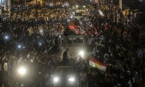 Peshmerga convoy