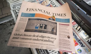 The FT has been sold by Pearson to Japanese financial newspaper Nikkei.