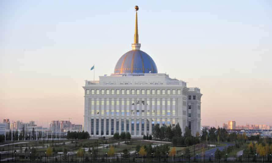 The Presidential Palace in Astana is like a Disney version of the White House in Washington.