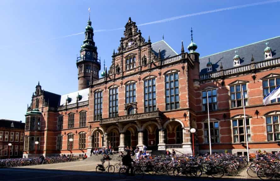 Bikes outside Groningen university.