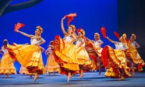 A riot of hues and patterns … Ballet Folklórico de México at the Coliseum, London.
