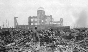 On August 6, 1945, an atomic bomb instantly destroyed almost all of the houses and buildings in Hiroshima.