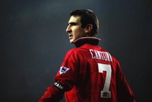 Cantona at White Hart Lane early in 1996.