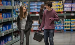 Cara Delevingne as Margo, and Nat Wolff as Quentin