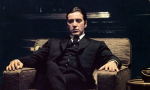 Pacino as Michael Corleone in The Godfather Part II, 1974.