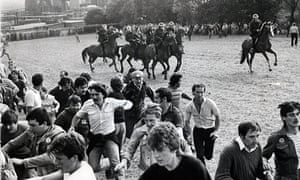 The battle of Orgreave, South Yorkshire, during the 1984-85 miners' strike