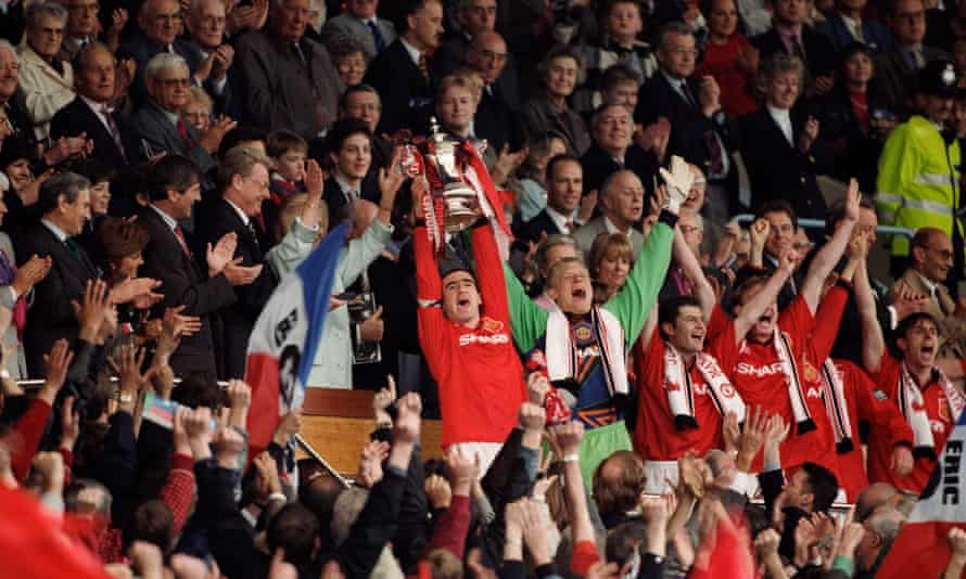 Cantona became the first captain not from the British Isles to lift the Cup.