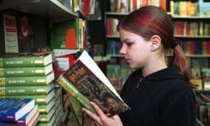 Girl Reading Harry Potter