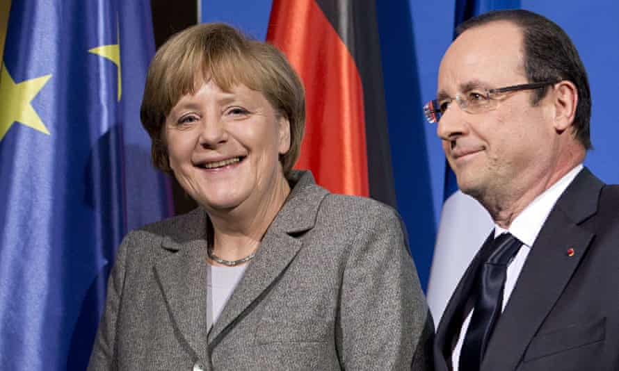 German chancellor Angela Merkel and Francois Hollande