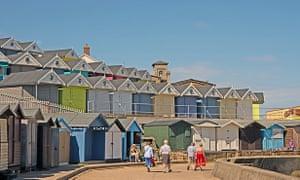 Beach huts at Walton on the Naze, Essex