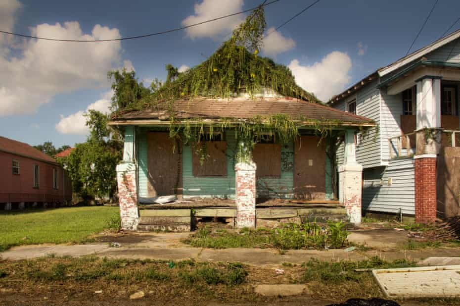 An abandoned house in the lower 9th ward of New Orleans, 10 years after Hurricane Katrina.