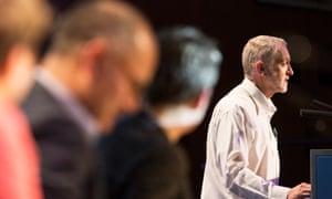 Jeremy Corbyn at a Greek Solidarity Meeting at TUC Congress.