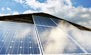 Photovoltaic cells on a domestic house roof in the UK