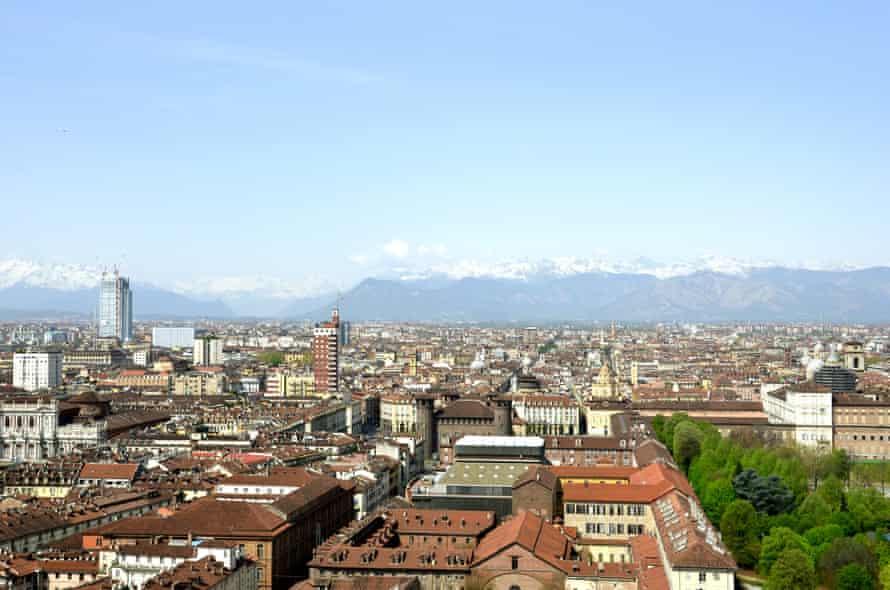 Alp view from Mole Antonelliana