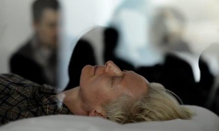 Tilda Swinton in The Maybe at Moma in New York, 2013.