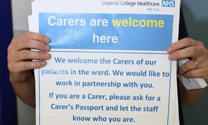 Signs that went up in St Mary's hospital in Paddington.