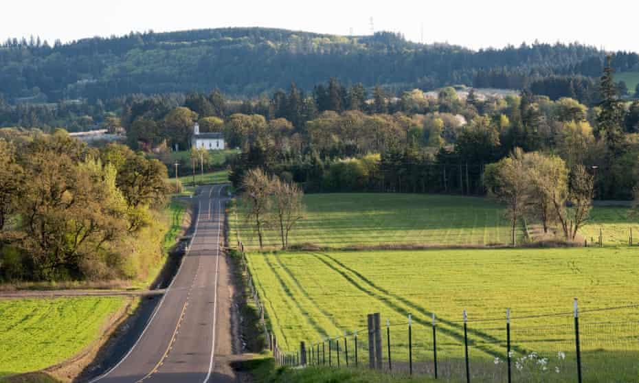 View towards Salem, Oregon.