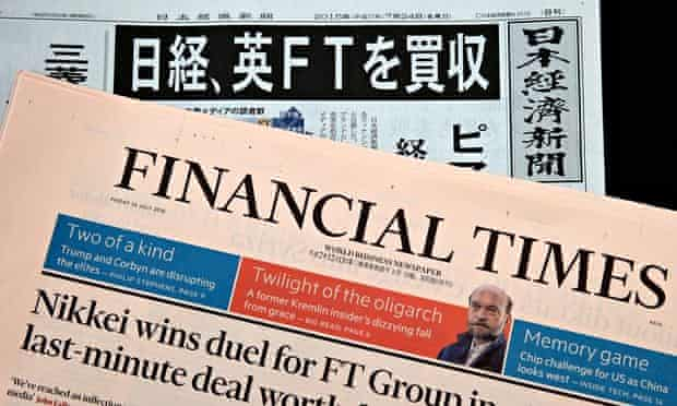 Nikkei, Japan's largest media company, bought the FT Group from Pearson in July for £844m