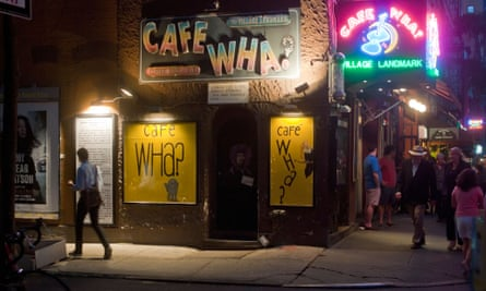 Cafe Wha? in Greenwich Village.