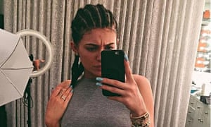 Kylie Jenner with cornrows