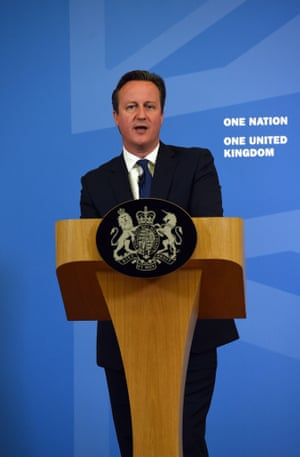 David Cameron delivers his speech in Birmingham, setting out the government's plans to combat 'non-violent extremism'.
