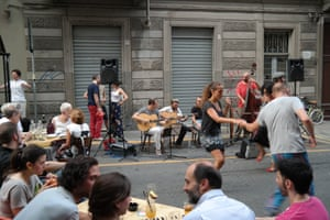 Nightlife in the San Salvario district of Turin