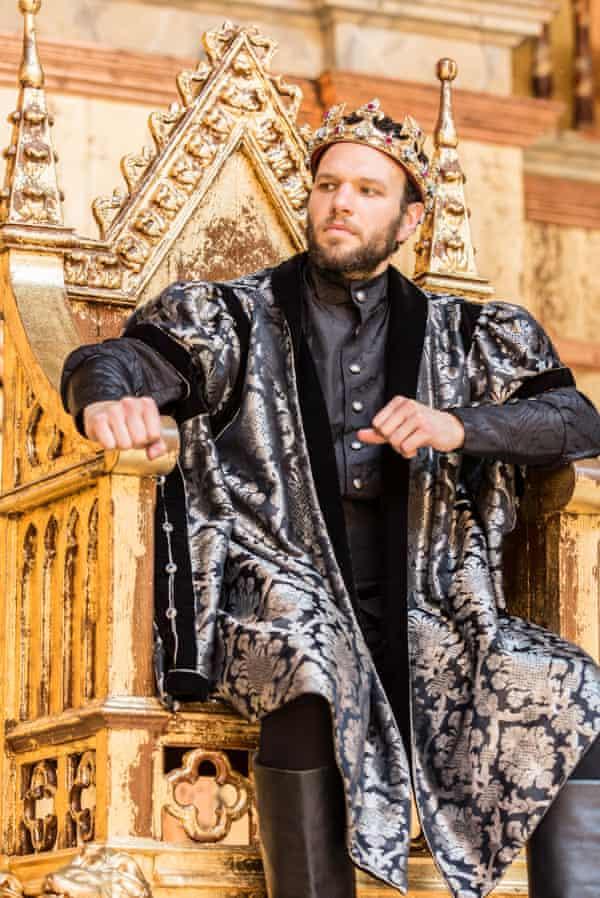 Man of action… David Sturzaker as Bolingbroke in Richard II.