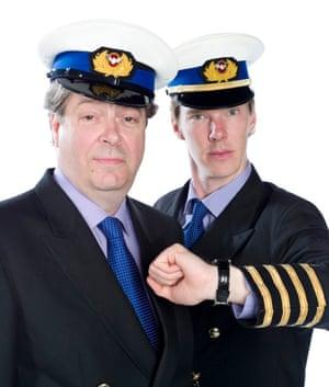 With Roger Allam, co-star in the BBC Radio 4 comedy Cabin Pressure.