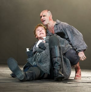 Benedict Cumberbatch and Jonny Lee Miller in Frankenstein at the National Theatre.