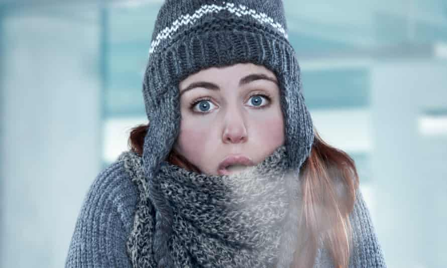 Woman in cold