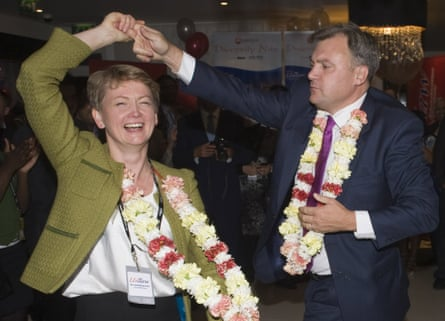 Cooper with her husband, Ed Balls.